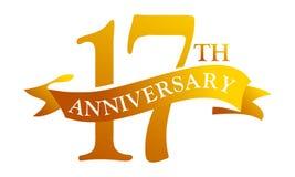 17 de Verjaardag van het jaarlint royalty-vrije illustratie