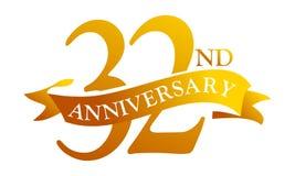 32 de Verjaardag van het jaarlint stock illustratie