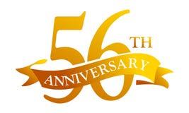 56 de Verjaardag van het jaarlint Vector Illustratie