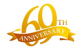 69 de Verjaardag van het jaarlint vector illustratie