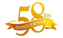 58 de Verjaardag van het jaarlint stock illustratie