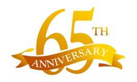 56 de Verjaardag van het jaarlint Stock Illustratie