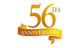 56 de Verjaardag van het jaarlint Royalty-vrije Stock Afbeeldingen