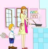 De verjaardag van het mamma Stock Afbeelding