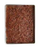 De verjaardagscake van de chocolade met weg stock fotografie
