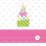 De verjaardagscake van het babymeisje Stock Foto