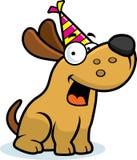 De Verjaardagspartij van de beeldverhaalhond royalty-vrije illustratie