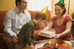 De verjaardagspartij van de familie. Stock Afbeeldingen
