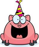 De Verjaardagspartij van het beeldverhaalvarken Stock Foto