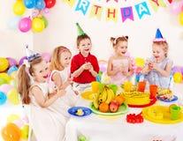 De verjaardagspartij van het kind. Stock Foto's
