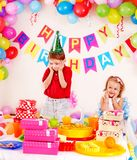 De verjaardagspartij van het kind. Royalty-vrije Stock Afbeelding