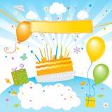De verjaardagspartij van jonge geitjes royalty-vrije illustratie