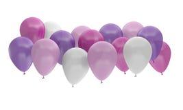 De verjaardagsviering van de ballons multicolored partij Royalty-vrije Stock Fotografie