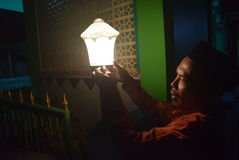 De Verjaardagsviering van helderziendemuhammad royalty-vrije stock afbeelding