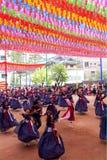 De verjaardagsviering van Koreaanse Boedha Stock Fotografie