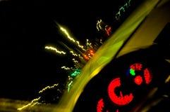De verkeerslichten van de nacht Stock Afbeelding