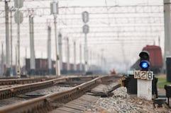 De verkeerslichten van de spoorweg Stock Afbeeldingen