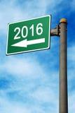 In de Verkeersteken van 2016 Stock Fotografie