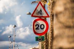 De Verkeersteken van de de Snelheidsbeperking van Mallorca Royalty-vrije Stock Afbeelding