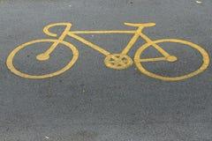De verkeersteken van de fiets stock foto's