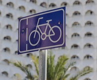 De verkeersteken van de fiets Stock Afbeeldingen