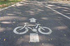 De verkeersteken van de fietssteeg royalty-vrije stock fotografie