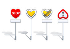 De verkeersteken van de hartvorm - prioriteit enz. Royalty-vrije Stock Fotografie