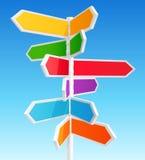 De verkeersteken van de richting Stock Afbeelding