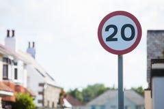 De verkeersteken van de snelheidsbeperking Royalty-vrije Stock Fotografie