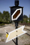 De verkeersteken van de spoorweg Stock Afbeelding
