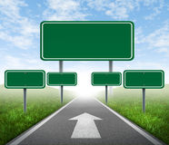 De verkeersteken van de strategie Stock Afbeeldingen
