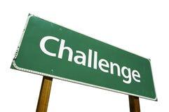 De verkeersteken van de uitdaging Stock Afbeeldingen