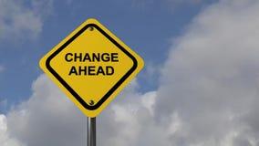 De verkeersteken van de verandering vooruit royalty-vrije illustratie
