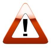 De verkeersteken van de waarschuwing Stock Afbeeldingen