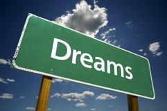 De Verkeersteken van dromen Stock Foto's