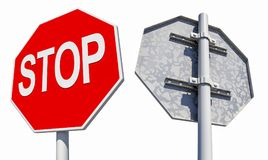 De verkeersteken van het einde Stock Foto's