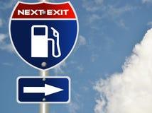 De verkeersteken van het gas