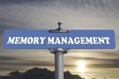 De verkeersteken van het geheugenbeheer Stock Foto