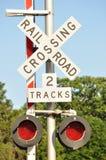 De verkeersteken van het spoor Stock Afbeeldingen