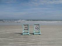 De Verkeersteken van het strand Royalty-vrije Stock Foto's
