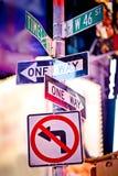 De verkeersteken van New York Stock Afbeelding