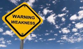 De verkeersteken van de waarschuwingszwakheid Royalty-vrije Stock Afbeelding