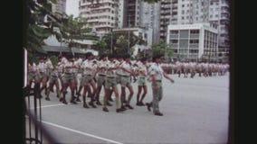 De verkenners paraderen stock footage