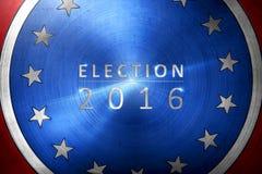 De verkiezing 2016 met verkiezing wordt geschreven die met onderstreept Royalty-vrije Stock Fotografie