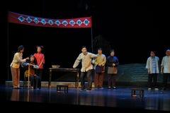 In de verkiezing van dorpscadres- de opera van Jiangxi een weeghaak Royalty-vrije Stock Afbeelding