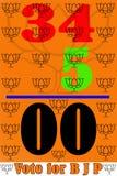 In de verkiezing van 2016 in stem de West- van Bengalen voor BJP Stock Afbeelding