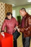 De verkiezingen in Gomel-gebied van de Republiek Wit-Rusland stock fotografie