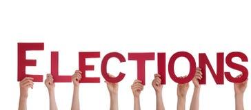 De Verkiezingen van de mensenholding stock foto