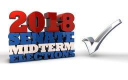 2018 de verkiezingen van de senaatshelft van het trimester stock illustratie
