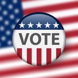 De verkiezingen van Verenigde Staten De helft van het trimesterverkiezingen 2018 van de V.S.: het ras voor Congres Verkiezing Pin vector illustratie